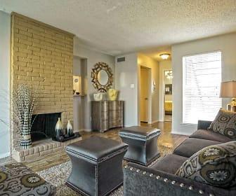 Living Room, Keller Oaks Apartments