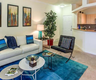 Living Room, The Drexel at Oakley Apartments