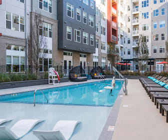 view of pool, Station on Silver Apartments