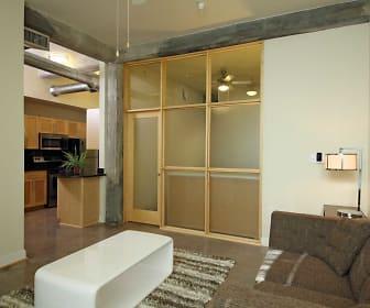 Bathroom, Atrium Lofts at Cold Storage