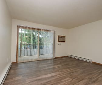 Prairie One Apartments - Renovated 2 Bedroom - Living Room, Prairie One Apartments