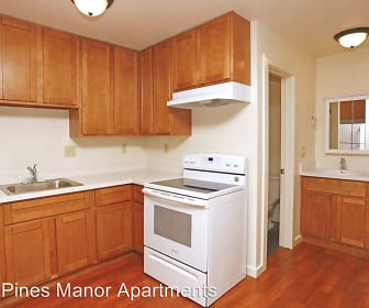 Kitchen, Twin Pines Manor Apartments