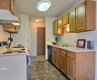 Kitchen, Place One Apartments