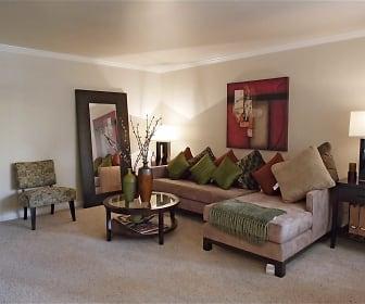 Living Room, Peninsula Pines Apartments
