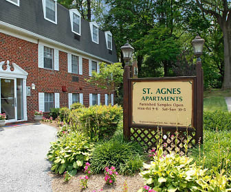 Community Signage, Saint Agnes Apartments