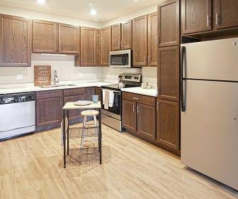 Kitchen, 100 West Main Senior Housing 55+