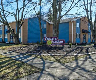 Community Signage, Crescent Gardens Apartments