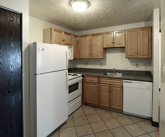 Kitchen, Riverwalk Apartments