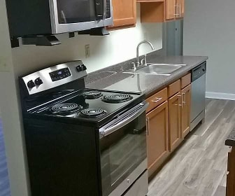 Kitchen, Laurel Village Apartments