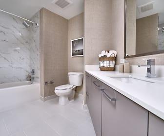 Bathroom, Park-Line Miami at Virgin MiamiCentral