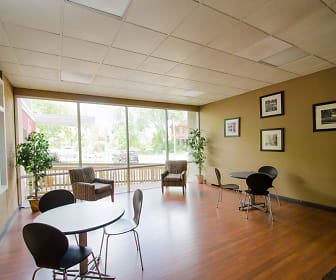 Residents may enjoy our lounge area in the Community Clubhouse., Executive Towers