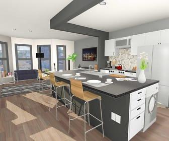 Kitchen, 616 Niagara Apartments