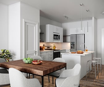 Kitchen, Inova Luxury Apartments at the Summit