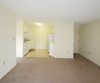 Living Room, Clifton Park & Clifton House Apartments