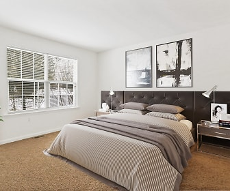 Bedroom, Crooked Hill Townhomes