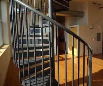 stairway with hardwood floors, Boston Lofts
