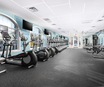 workout area with carpet, natural light, and TV, Pleasant View Gardens