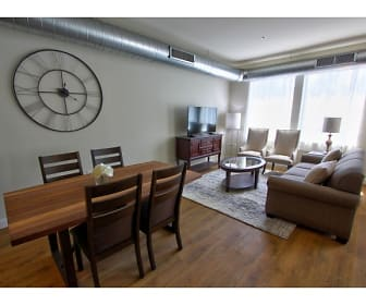 Draper Lofts living room, Draper Lofts