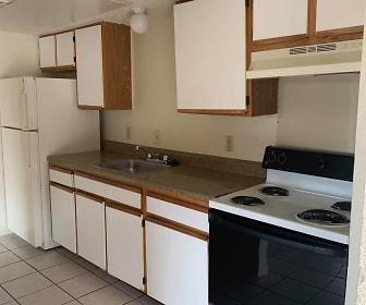 Kitchen, Las Lomas Apartments