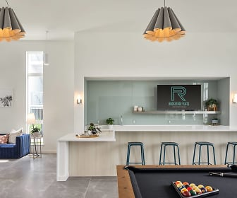 dining space featuring tile floors, natural light, and TV, Rockledge Flats Apartments