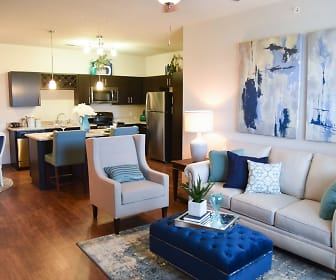 Living Room, Springs at Forest Hill Apartments