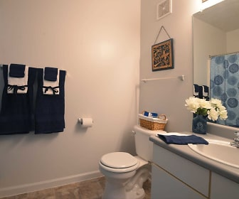 Bathroom, Washington Village Apartments