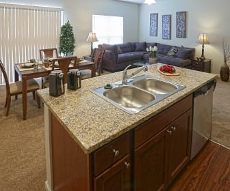 Living Room, Townhomes At Pleasant Meadows