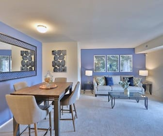 carpeted dining room with natural light, The Willows Apartment Homes