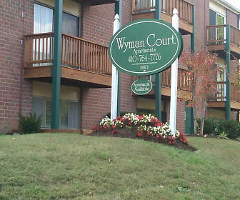Community Signage, Wyman Court Apartments