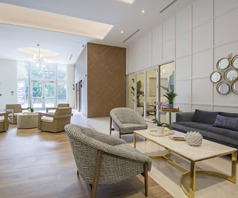community lobby featuring hardwood flooring and natural light, Blue Lagoon 7
