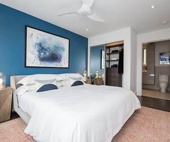 bedroom with a ceiling fan, Presidential City