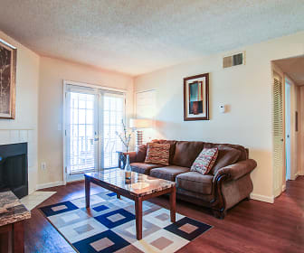 Living Room, Post Oak Apartments
