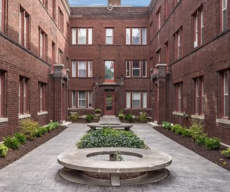 Courtyard, Normandie Apartments