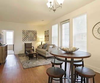 Living Room, Jackson Walk Apartments