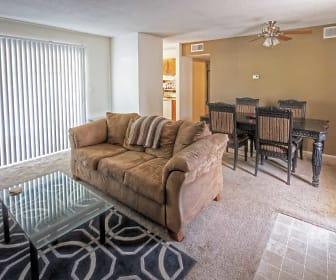 Living Room, Hillcrest 90 Apartments