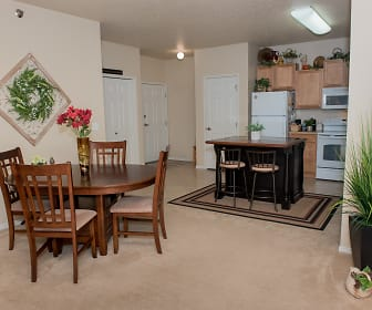 Dining Room, Crossing at Waters Edge 55+ Independent Living Community