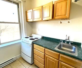 Kitchen, 55 Park Drive Apartments