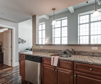 Kitchen, Cornell Mill Lofts