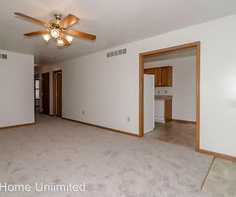 Living Room, Red Brick Apartments- 428 S. Washington Street