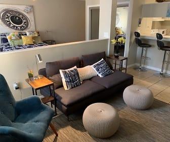 Living Room, Summit at Campus Edge Apartments