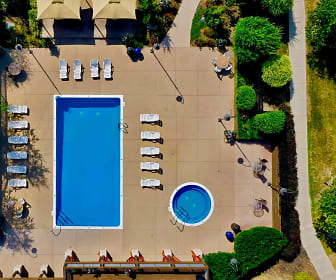 Aerial View of The Bronco Club Pool, The Bronco Club
