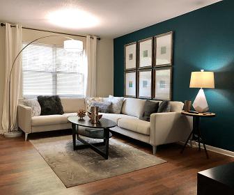 Living Room, Northshore Village Apartments