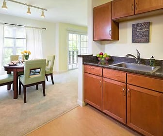 Two Bedroom Kitchen / Dining Area, Huntington Townhomes