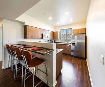 Kitchen, CERCA Student Housing - Lease by the Bedroom