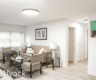office with natural light, hardwood flooring, and baseboard radiator, River Edge at Nyack