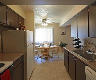 Kitchen, Cottonwood Apartments