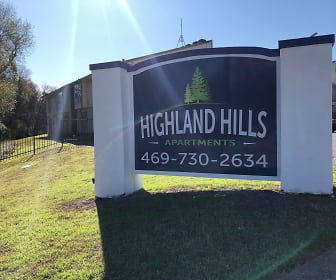 Community Signage, Highland Hills Apartments