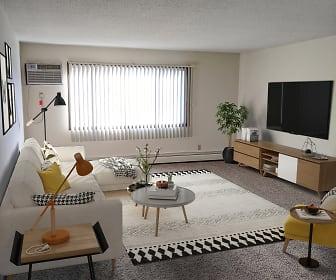 Living Room, Scotland Green Apartments