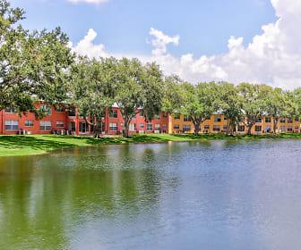 Lake, Windtree Apartments