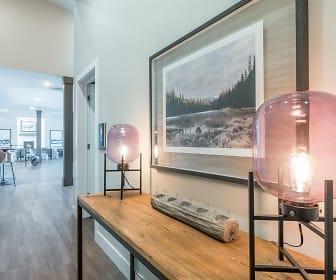corridor with hardwood flooring, Timbers